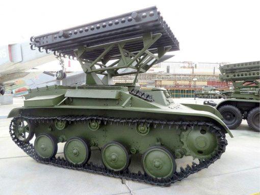 Katyusha launcher based on the Soviet T-60 tank